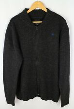 G-Star Raw Denim New Coast Vest Knit Men Cardigan Casual Full Zip Wool size XXL