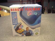GEORGE FOREMAN In Grilling Colors Salton GR10ABW1 New