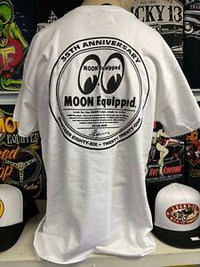 Mooneyes Japan 35th anniversary white t-shirt size L hot rod kustom dragster
