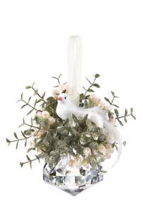 Ganz H7 Wedding Christmas Kissing Krystals 7in Peace Dove Jewel Ornament KK96