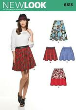 NEW LOOK SEWING PATTERN MISSES' SKIRT WITH LENGTH VARIATIONS SIZE 4 - 16 6313