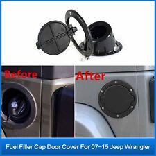 Fuel Filler Door Cover Gas Tank Cap for Jeep Wrangler JK Unlimited 2/4 Door ABS
