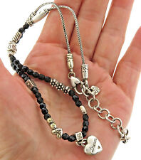 Brighton Heart Dream Charm Necklace Black Crystal
