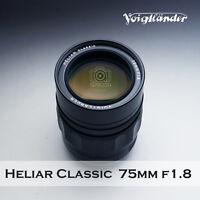 Voigtlander HELIAR classic 75mm F/1.8  for Leica M camera