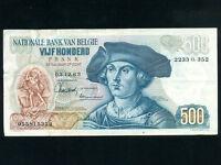 Belgium:P-135a,500 Francs,1963 * Bernard Van Orley *