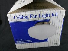 """Brand New Ceiling Fan Light Kit 8-1/2 """"Opal Schoolhouse Globe Antique Brass Fin"""