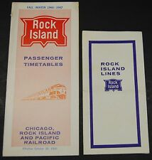 Rock Island Public Timetable  Fall-Winter 1966-1967 & Ticket holder envelope