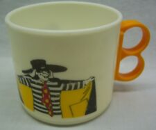 "1983 VINTAGE McDonald's 1980's HAMBURGLAR CHARACTER 3"" PLASTIC MUG CUP"