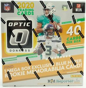 2020 Panini Donruss Optic NFL Football Mega Box (Blue Hyper Parallels) (Walmart)