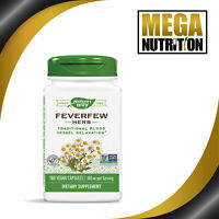 Nature's Way Feverfew Herb 380mg 180 Vegetarian Capsules | Support Healthy Blood