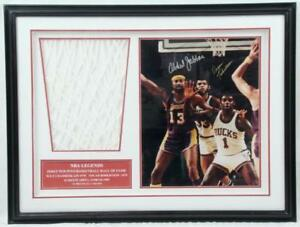 Oscar Robertson Kareem Abdul Jabbar Autographed 16x20 Photo Framed Signed Lakers