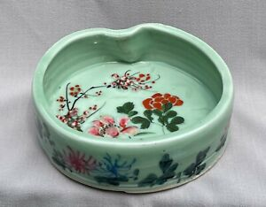 Antique Japanese Seto Meiji Celadon Bowl Dish