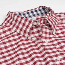 Brooks Brothers Hemd Gr XL Slim Fit CLASSIC Rot Red Fest Plaid HERBST #Menswear