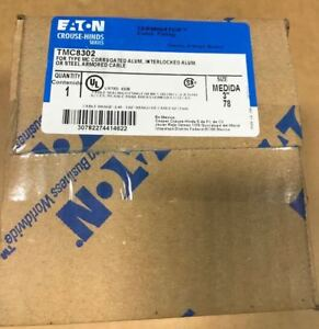 """Crouse Hinds TMC8302 3"""" connector TERMINATOR CLEAN STOCK EATON new"""