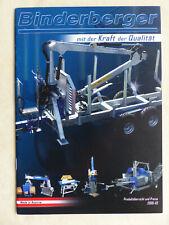 0156) Binderberger Sägen Spalter - Preisliste - Prospekt 03.2009 Österreich