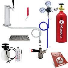 Kegco Kegerator Keg Tap Draft Beer Tower Conversion Kit Drip Tray Cleaning Kit