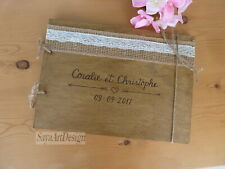Wooden Wedding Guest Book. Rustic Country Wish Book Custom Engraved Wedding Gift