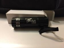Promotional Aluminum 3-LED Lobster Clip Flashlight Black