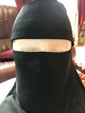 WIDE NIQAB MUSLIM HIJAB ONE LAYER ISLAMIC Face Cover Veil Burqa Burka Nikab New