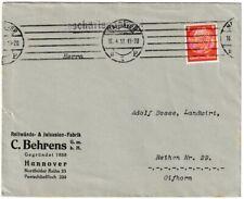 Briefumschlag - C. Behrens GmbH (Fabrik) Hannover 1935 mit Stempel+Briefmarke