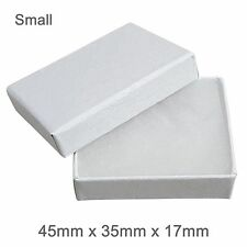 Blanco Cojín de Algodón Joyas Regalo Caja de cartón fuerte Caja de Joyería-Pequeño