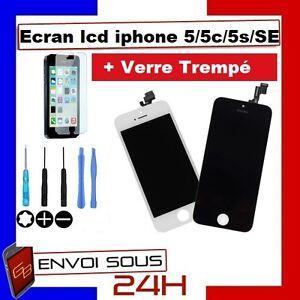 VITRE TACTILE IPHONE 5S / 5C / 5 / 5 SE + ECRAN LCD SUR CHASSIS Grade AAA + FILM