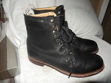 Handcrafted in Italy, Rag & Bone's black grained leather Officer boots 12 D $499