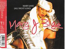 MARY J BLIGE - Mary Jane (All night long) CDM 5TR RnB Swing House 1995 Europe