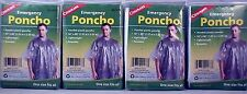 "4 EMERGENCY PONCHO, HOODED, 50""X 80"" LIGHTWEIGHT, REUSABLE, ONE SIZE FITS ALL!!"