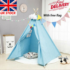 Large Canvas Child Kids Indian Tent Teepee Wigwam Indoor Outdoor Play House Gift