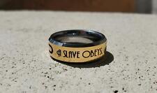 "Bioshock ""A Man chooses a Slave Obeys"" Tungsten Ring, Bioshock ring, video game"