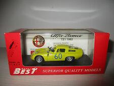 ALFA ROMEO TZ 1 1963 BEST MODEL NO.9061 SCALA 1:43