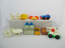 Fisher Price Little People Furniture Bed Signs Swivel Chair Police Car Lot of 18