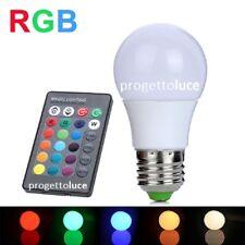 LAMPADINA LAMPADA LED 5W WAT RGB CON TELECOMANDO LUCE COLORI MULTICOLOR E27