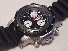 CX SWISS MILITARY SEA WOLF CHRONOGRAPH, PROFFESIONAL 1000M DIVER , SWISS MADE