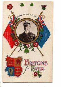 Military Naval Postcard - Admiral Jellicoe.  WW 1 Era.