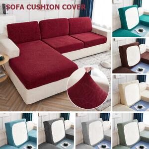Elastic 1/2/3/4 Seater Seat Cushions Slipcovers Sofa Cushion Cover Saddle Cover