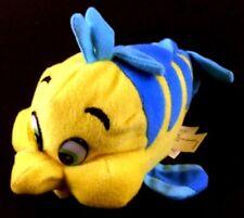 Flounder Little Mermaid Fish Beanbag Plush Souvenir Disney Parks Yellow Blue