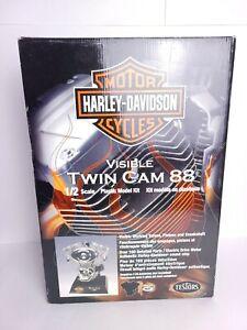 New Testors 1/2 Scale Model Kit Harley Davidson Visible V Twin Cam 88 Motor