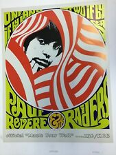 Vintage Lithograph poster Paul Revere and the Raiders Created in 1967 by Gurney
