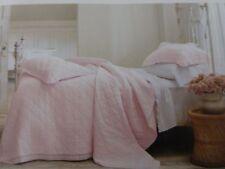 Simply Shabby Chic Pink Linen Cotton Blend with Crochet Trim Sham NIP