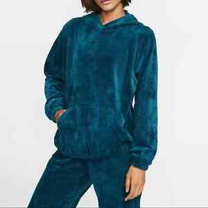 Nike Velour Cord Hoodie Size XXL Sweatshirt Blue bv4468-347