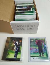 2001 Upper Deck Golf 1 Tger Woods Rookie & Complete 200 Card Set Tiger Tales Set