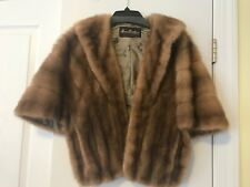 MINK Fur STOLE Cape Wrap Coat Jacket