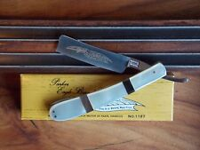 Stunning PARKER CUT CO JAPAN EAGLE BRAND MOP STRAIGHT RAZOR