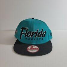 Vintage 90's New Era Florida Marlins Snapback Hat MLB Miami Marlins