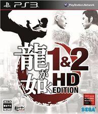 PS3 Ryu ga Gotoku 1&2 HD Edition Japan Import Yakuza 1 2 Free Shipping F/S