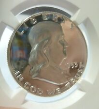 1953 Franklin Half Dollar Type1 NGC Brilliant Bright White Frosty Cameo Proof 65