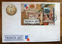 2014 ISLE OF MAN TRENCH ART MINI SHEET FIRST DAY COVER