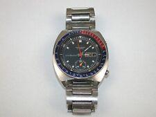 """Seiko Man's 6139-6002 Automatic """"PEPSI"""" Chronograph Wristwatch. 146T"""